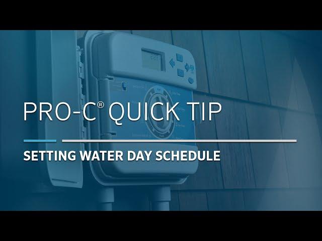 Pro-C Irrigation Controller Basic: 04, Pro C Water Days