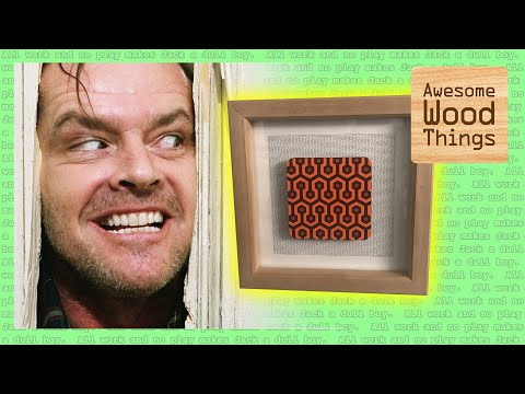 DIY Wood Frame for Art Deco Pattern from The Shining (Giveaway!)