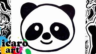 como dibujar un emoji   how to draw emojis   panda