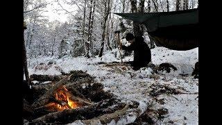 Scottish Winter Hammocking, Bushcraft Camp