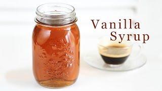 How To Make Vanilla Syrup 바닐라 시럽 만들기 - 한글자막