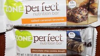 Zone Perfect Nutrition Bars: Salted Caramel Brownie & Chocolate Chip Cookie Dough Review