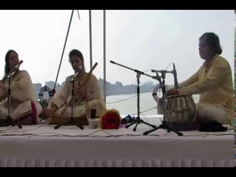 FLUTE SISTERS   AHIR BHAIRAV - GAT RUPAKTAAL PART 1