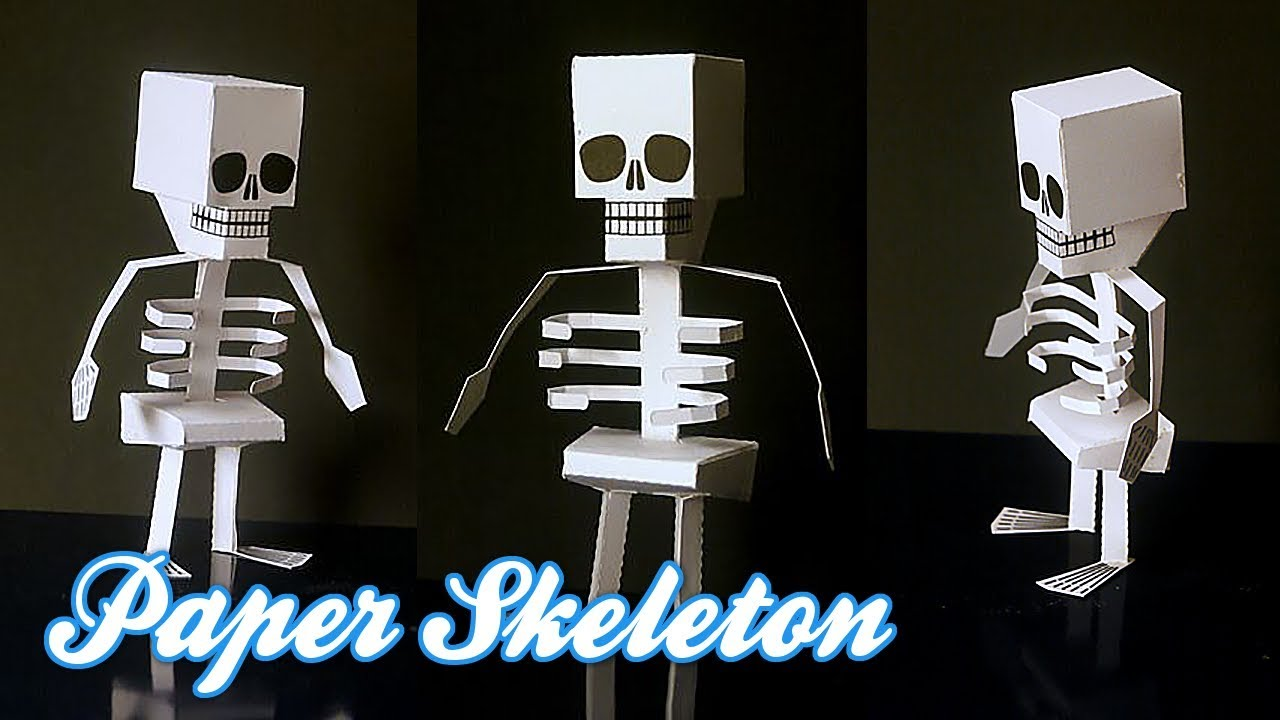 How To Make Paper Skeleton - Diy Paper Craft For Kids