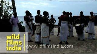 Chenda Melam: Percussion using Chenda, musical instrument from Kerala