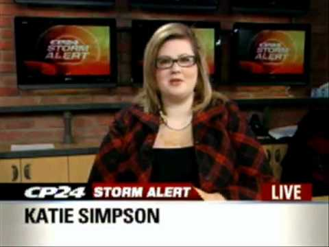 02/02/11 - CP24 Storm Alert - School & Bus Cancellations - Storms In Toronto