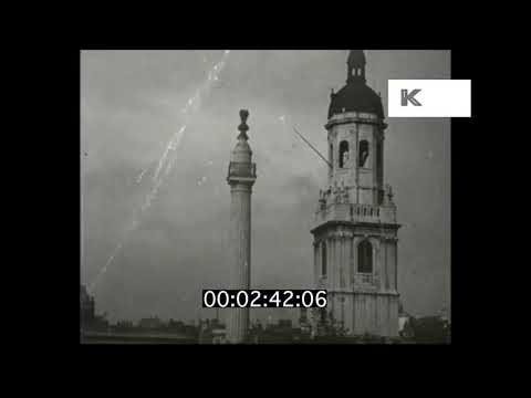 1910s City of London, Bank of England, Monument, HD Master