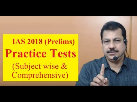 IAS 2018 (Prelims)-Practice Tests (Subject wise & Comprehensive)-OnlineIAS.com - February 17, 2018