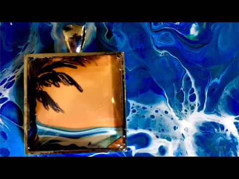 How to use Poured Fluid Acrylic Skins to make a Painted Pendant