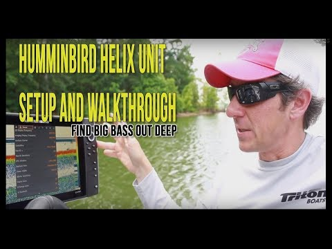 How To Setup A Humminbird Helix Unit For Finding Bass   Best Settings Tips & Tricks  