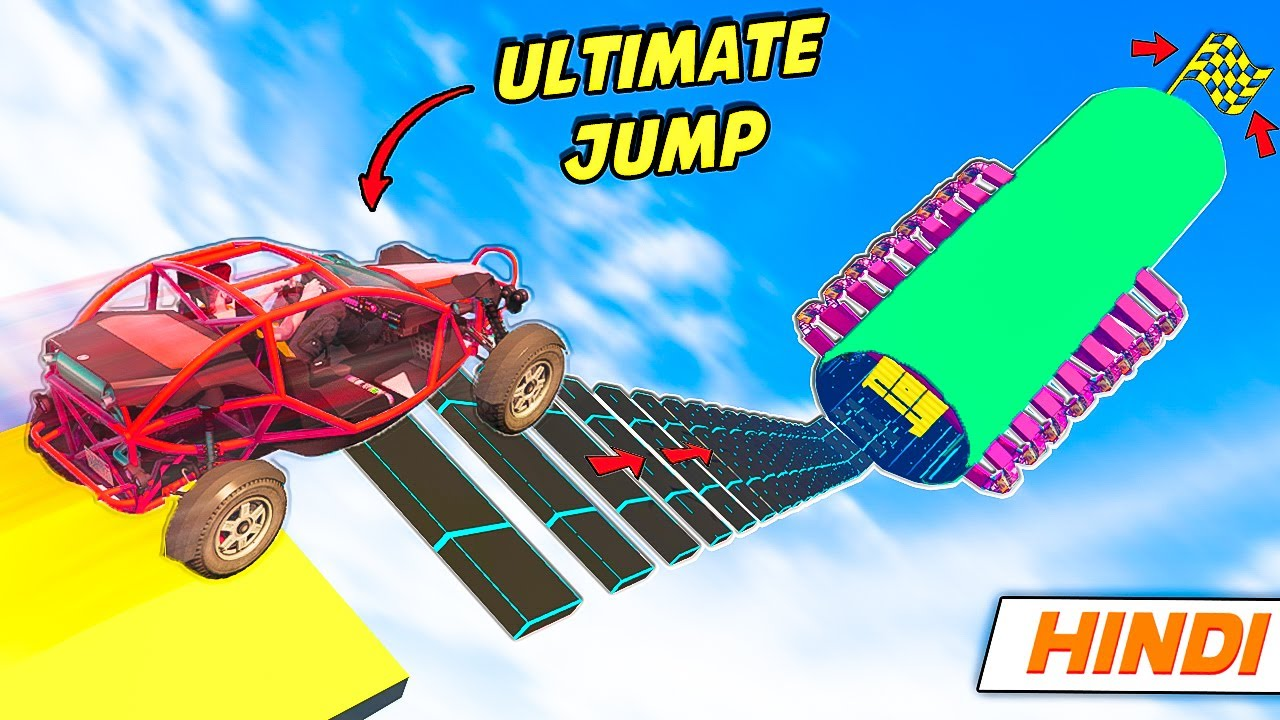 GTA 5: *ULTIMATE* Final Buggy Jump ? | Parkour Race | GTA 5 Online Hindi Funny Moments | Saxisam