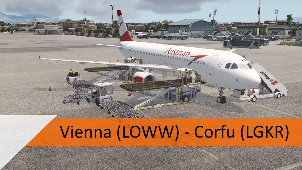 P3D V4 2 Full Flight - Austrian A320 - Vienna to Corfu (LOWW-LGKR)