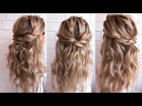 Прическа с локонами на средние волосы с челкой своими руками