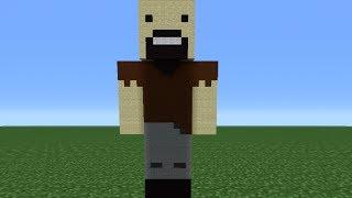 Minecraft Tutorial: How To Make A Notch Statue