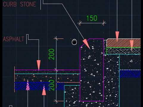 Civil Engineering - Curb Stone Details and Drawing in English / Hindi