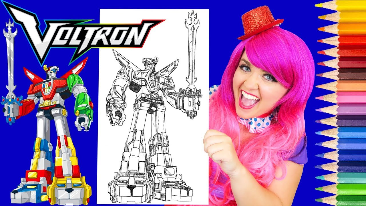 Coloring Voltron Legendary Defender Coloring Page Prismacolor Pencils   KiMMi THE CLOWN