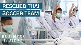 First Video Of Thai Soccer Team Since Their Rescue