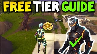 COMMENT GET A FREE BATTLE PASS TIER! Fortnite FREE TIER GUIDE! GRATUIT FORTNITE SAISON 4 NIVEAU!