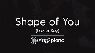 Shape Of You Lower Piano Karaoke Ed Sheeran