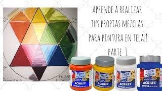 Pintura en tela//teoria de color 2//como hacer tus mezclas de colores para pintar en tela