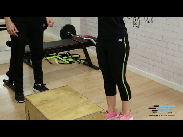 Ejercicio 42 - Subidad  y bajada de cajón con peso unilateral