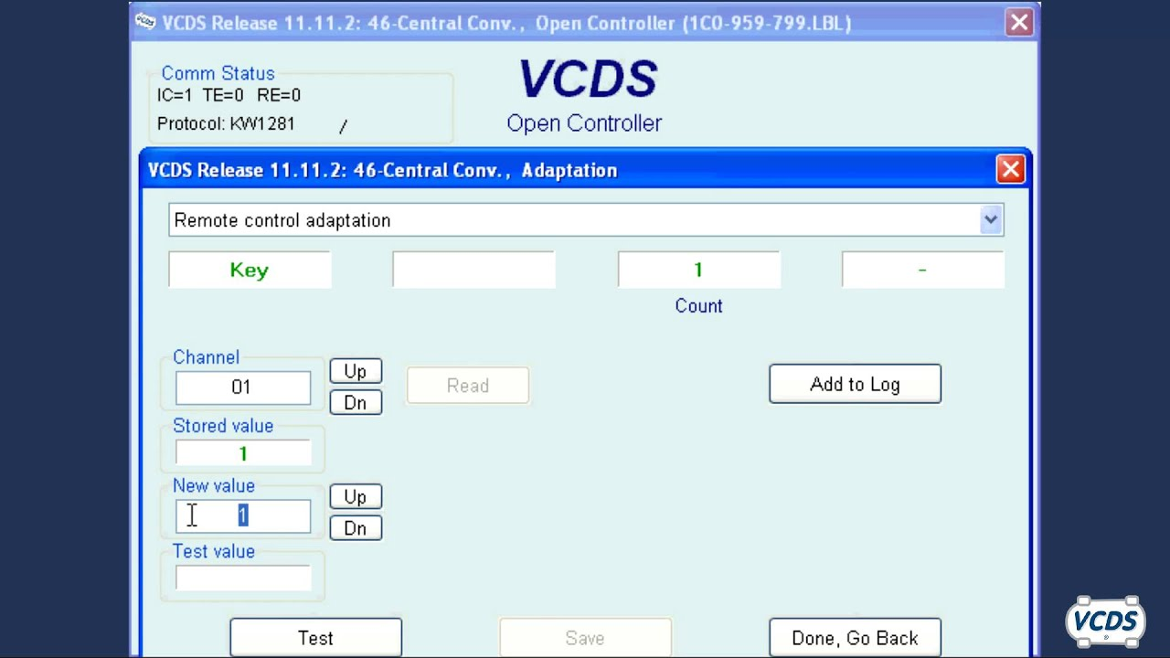 Mk4 And B5 Remote Learning With Vcds By Ross Tech Youtube