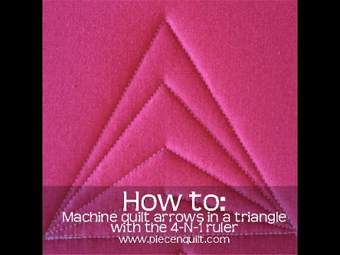 How To: Machine Quilt an Arrow in a Triangle