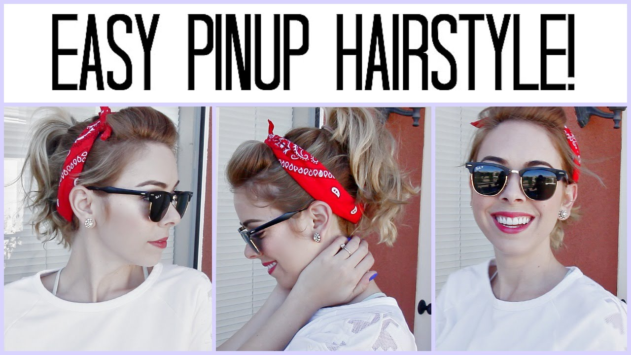 ♡ Easy Pinup Hairstyle!   YouTube
