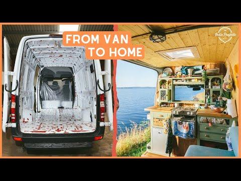 VAN TOUR   This Van Life Kitchen is INCREDIBLE! Sprinter Van Conversion