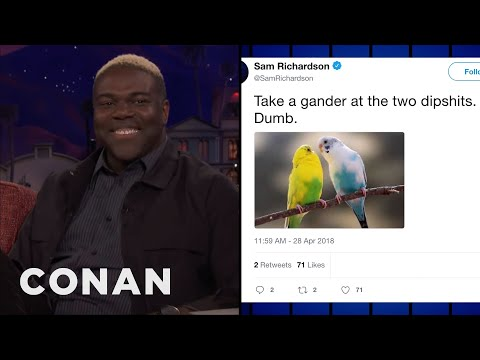 Sam Richardson Roasted Birds On Twitter  - CONAN on TBS