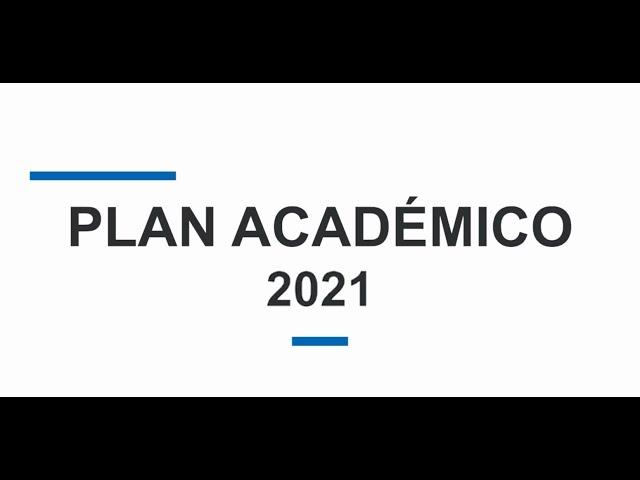 Plan Académico 2021 - Colegios Cognita Chile