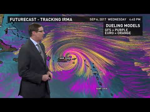 5 p.m. Hurricane Irma Forecast update for Wednesday, September 6