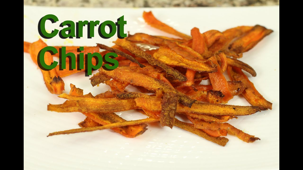 Carrot Chips - A Healthy Snack Recipe by Rockin Robin - YouTube