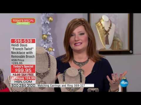 HSN   Heidi Daus Fashion Jewelry Gifts 11.01.2016 - 12 PM