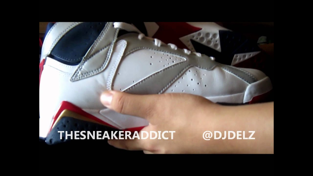 size 40 d2abc 03ed1 2012 Air Jordan Olympic 7   2010 FTLOTG VII Sneaker Comparison Video