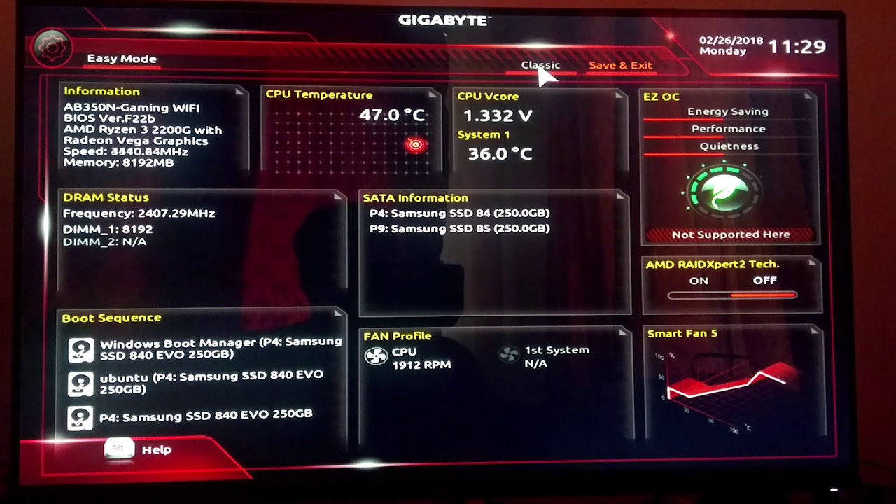 How to increase Video RAM for Ryzen 3 2200g (Max to 2GB)