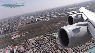 747-8i Take-Off from Beijing - Racing a KLM Jumbo!