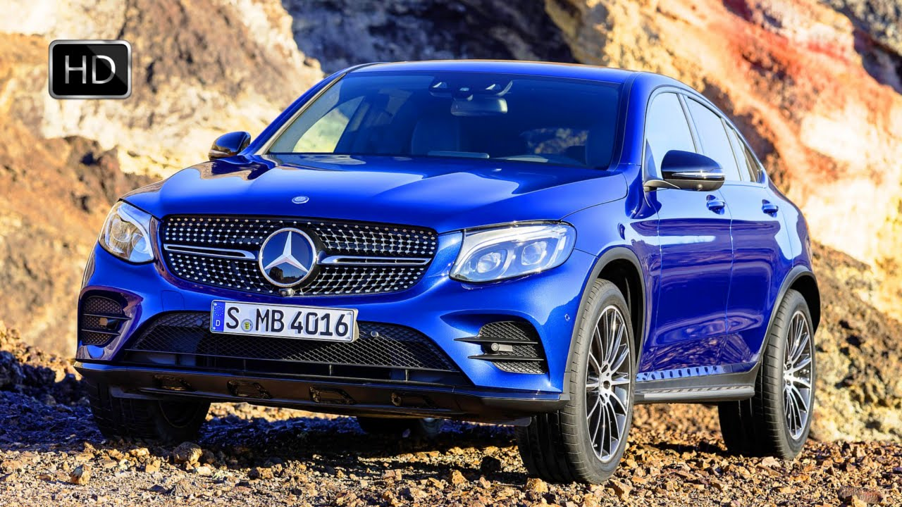 2017 Mercedes-Benz GLC Coupe SUV Brilliant Blue Exterior ...