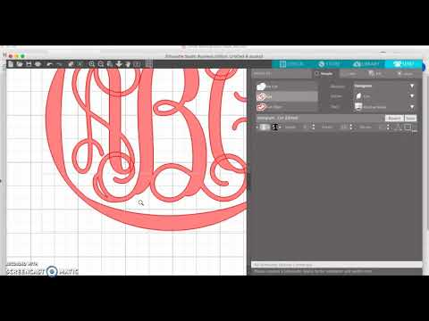 Working With Monograms In Silhouette Studio