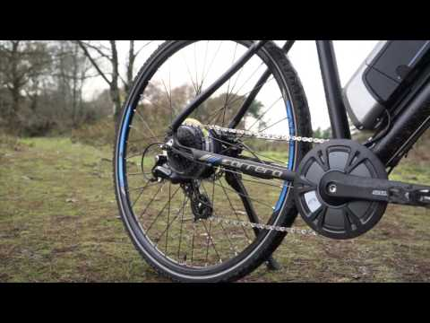 Carrera Crossfire-E Mens Electric Bike | Halfords UK - YouTube