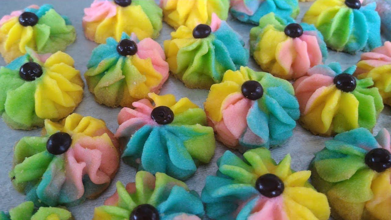 Kue Kering Semprit Pelangirainbow German Butter Cookies