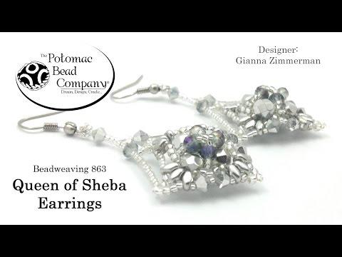 Queen of Sheba Earrings Design Tutorial