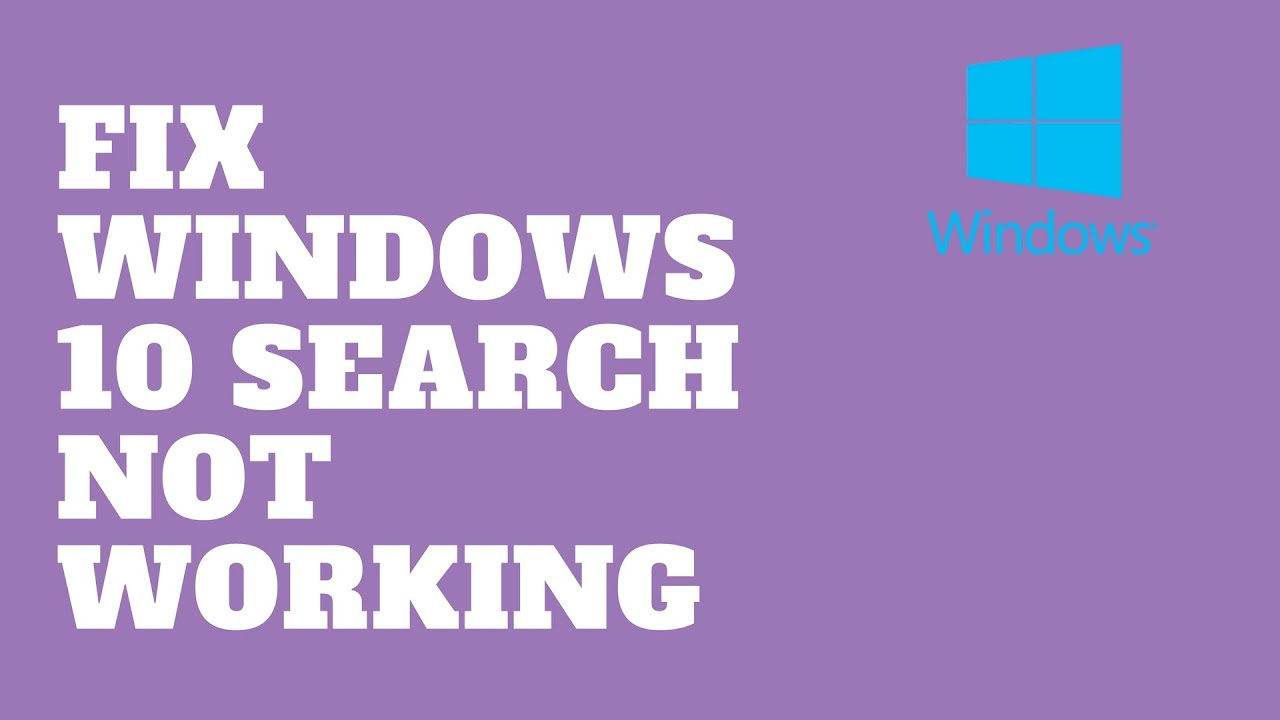 search engine windows 10 not working
