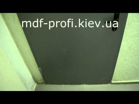 Обивка дверей мдф накладками