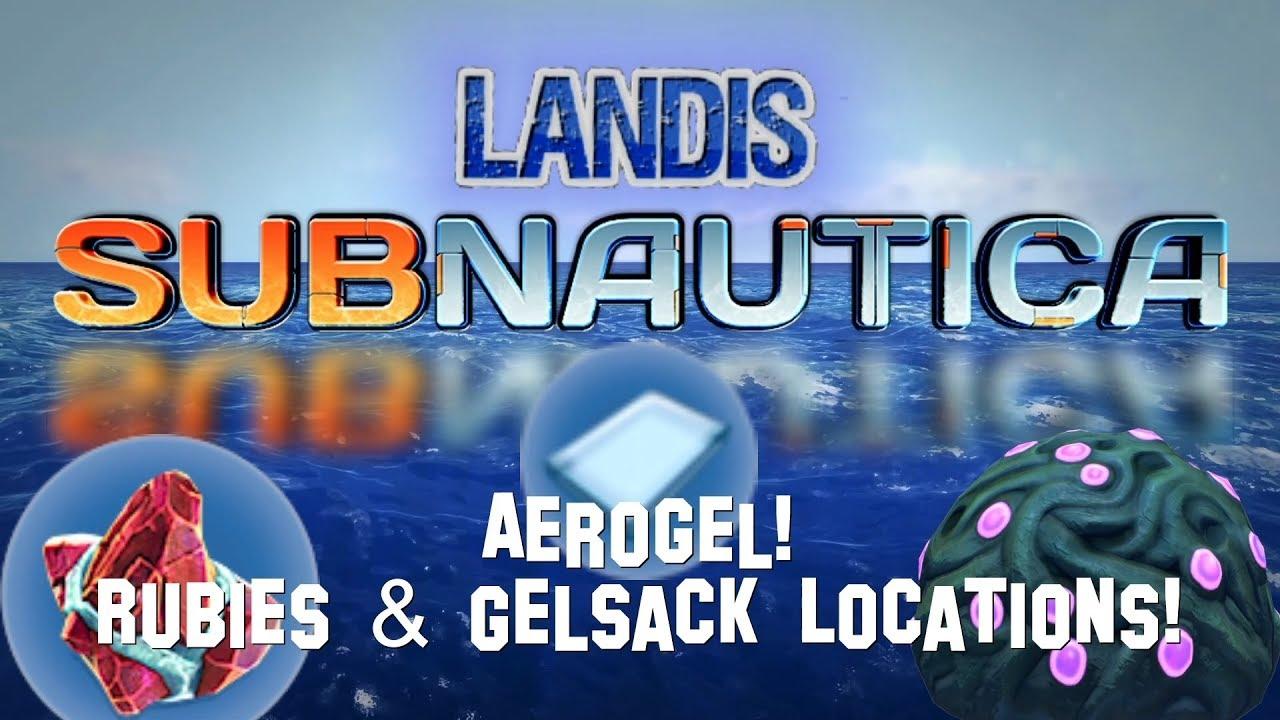 Aerogel! Rubies & Gelsack Locations! Subnautica Guides (ZP)
