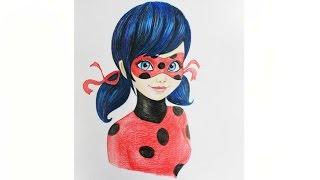 Уроки рисования. Как нарисовать Леди Баг How to draw Miraculous Ladybug | Art School