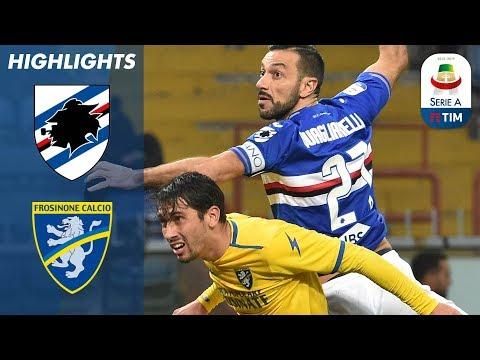 Sampdoria 0-1 Frosinone | Daniel Ciofani's away goal gives Frosinone a shock victory | Serie A