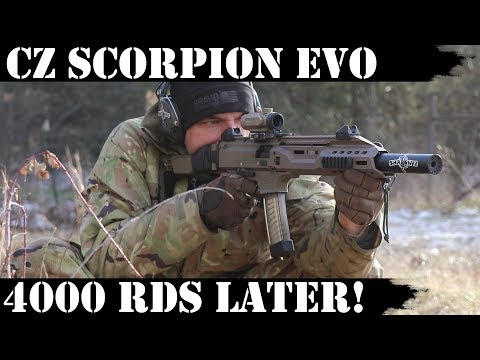 CZ Scorpion Evo3 S1: 4,000 Rds Later - WOW!