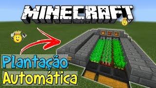 ⭐️Como fazer Plantação Automática Minecraft PE/PC/PS4/Xbox