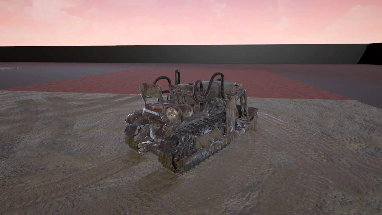 Unreal engine dynamic vehicle tracks system